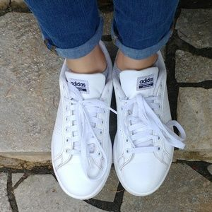 Adidas Cloud Foam White Lace Up Sneakers